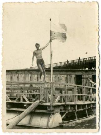 Nathan with Polish Flag